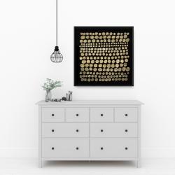 Framed 24 x 24 - Dots on gold