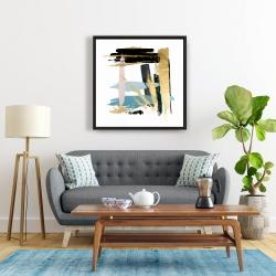 Framed 24 x 24 - Pastel stroke