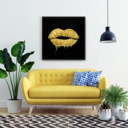 Framed 24 x 24 - Golden lips