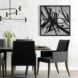 Framed 24 x 24 - Circular strokes