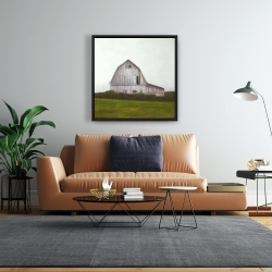 Framed 24 x 24 - Rustic barn