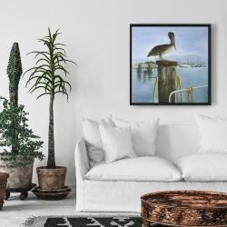 Framed 24 x 24 - Pelican