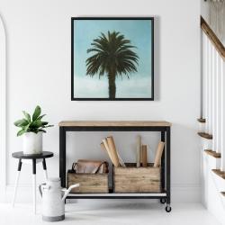 Framed 24 x 24 - Tropical palm