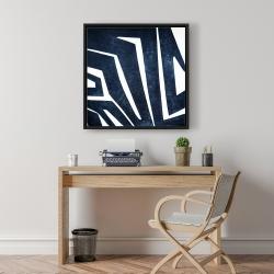 Framed 24 x 24 - Blue labyrinth