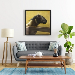 Framed 24 x 24 - Young ram