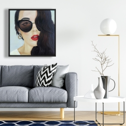 Framed 24 x 24 - Fashionable sunglasses