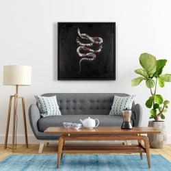 Framed 24 x 24 - Snake flowers