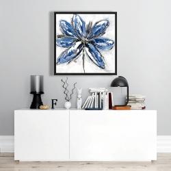 Framed 24 x 24 - Blue petal