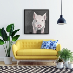 Framed 24 x 24 - Little piglet