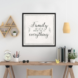 Framed 24 x 24 - Family