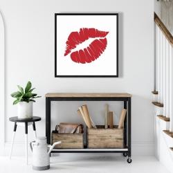 Framed 24 x 24 - Red lipstick mark