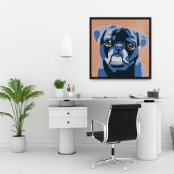 Framed 24 x 24 - Flash the pug