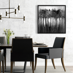 Framed 24 x 24 - Monochrome trees
