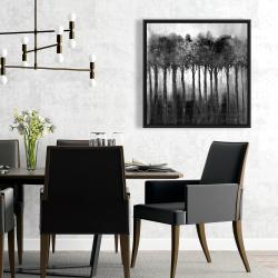 Framed 24 x 24 - Monochrome trees