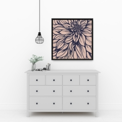 Framed 24 x 24 - Dahlia flower