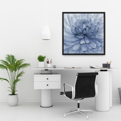 Framed 24 x 24 - Blue petals flower