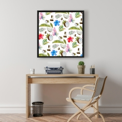Framed 24 x 24 - Tropical pattern