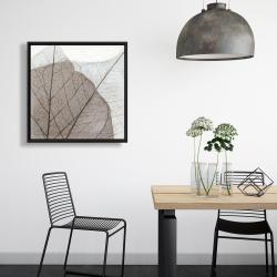 Framed 24 x 24 - Translucent dried leaves