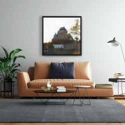 Framed 24 x 24 - Le château de frontenac in autumn