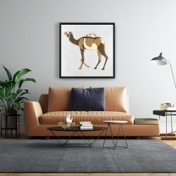 Framed 24 x 24 - Retro dromadaire