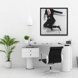Framed 24 x 24 - Classical jumping man