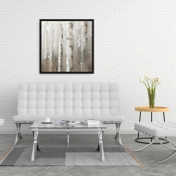 Framed 24 x 24 - Delicate birch trees