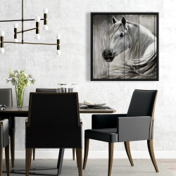 Framed 24 x 24 - Rustic horse