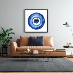 Framed 24 x 24 - Erbulus blue evil eye