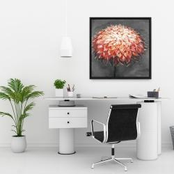 Framed 24 x 24 - Abstract dahlia flower