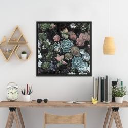 Framed 24 x 24 - Succulent set