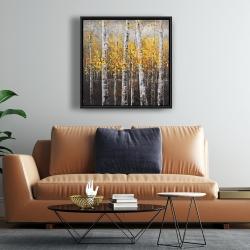Framed 24 x 24 - Sunny birch trees