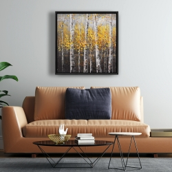 Framed 24 x 24 - Sunny birch trees