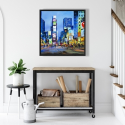Framed 24 x 24 - Cityscape in times square