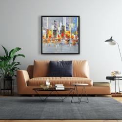 Framed 24 x 24 - Color splash cityscape