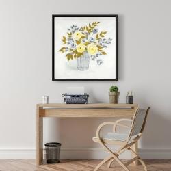 Framed 24 x 24 - Flowers in a vase