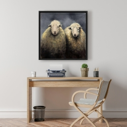 Framed 24 x 24 - Wool sheeps
