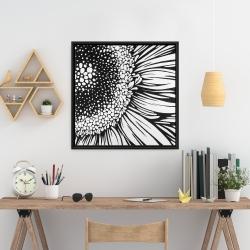 Framed 24 x 24 - Gerbera flower