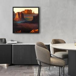 Framed 24 x 24 - Monument valley tribal park in arizona