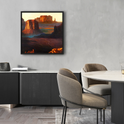 Framed 24 x 24 - Monument valley tribal park in arizona