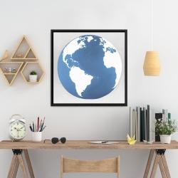Framed 24 x 24 - The earth