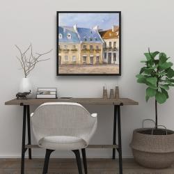 Framed 24 x 24 - Old quebec city