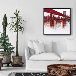 Framed 24 x 24 - Red bridge