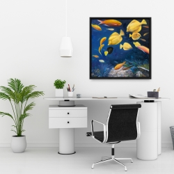 Framed 24 x 24 - Fish under the sea