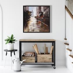 Framed 24 x 24 - Morning street scene