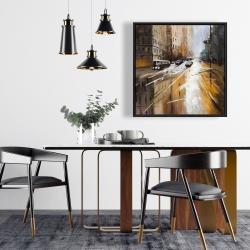 Framed 24 x 24 - Abstract city street