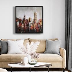 Framed 24 x 24 - Paint splash city