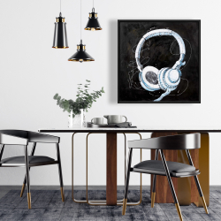 Framed 24 x 24 - Headphone
