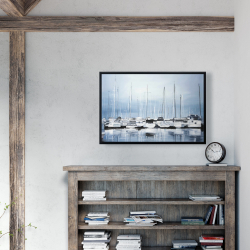 Framed 24 x 36 - Boats at the dock 2