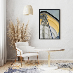 Framed 24 x 36 - The yellow boat