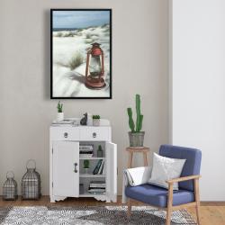 Framed 24 x 36 - Lantern on the beach